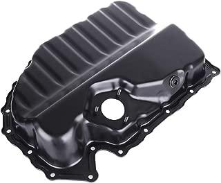 OCPTY Engine Oil Pan Steel Assembly Fits 2008-2013 L4 2.0L Cummins Diesel Audi A3 Quattro TT VW Beetle CC Eos Golf Jetta Passat Pickup Truck Compatible with 264-713