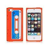 iphone ケース 5s iPhone 5/5s ケース 磁気テープ型 録音テープ型 iphone ケース おもしろ (オレンジ)