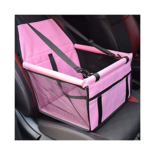 without Waterproof Pet Carriers Dog Car Seat Cover Mats Hammock Cushion Carrying For Dogs transportin (Color : B Pink)