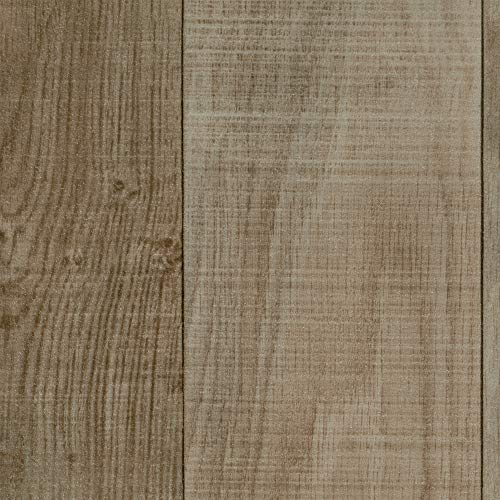 BODENMEISTER BM70566 Vinylboden PVC Bodenbelag Meterware 200, 300, 400 cm breit, Holzoptik Schiffsboden Eiche creme weiß