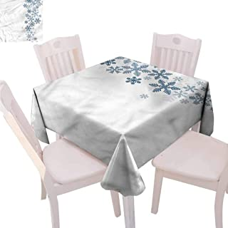 Zara Henry Snowflake Dust-Proof Tablecloth Winter Inspired Pattern Household Tablecloth W65 xL65