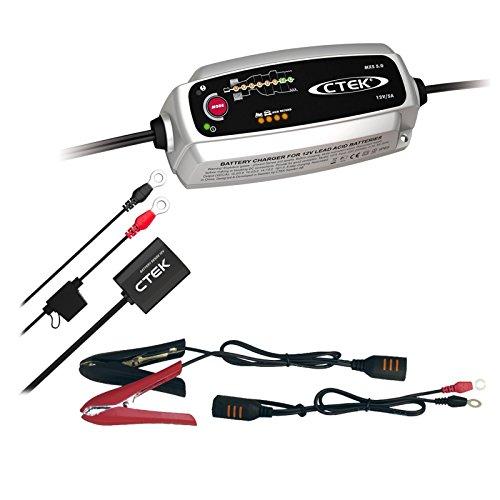 CTEK MXS 5.0 + batteria ricaricabile SENSE Caricabatterie