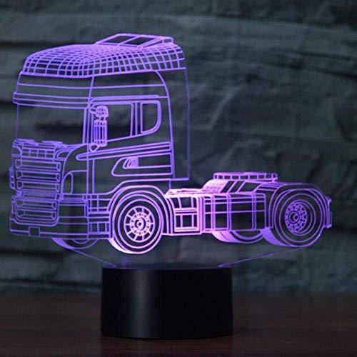 Led 3D Con Forma De Camión Pesado, Luz Nocturna, Usb7, Lámpara De Mesa De Humor, Botón Táctil, Dormitorio De Niños, Iluminación Para Dormir, Decoración Del Hogar