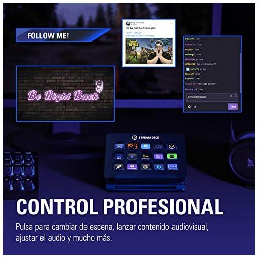 Elgato Stream Deck - Controlador para contenido en directo, 15 teclas LCD personalizables, soporte ajustable, Windows 10… 5