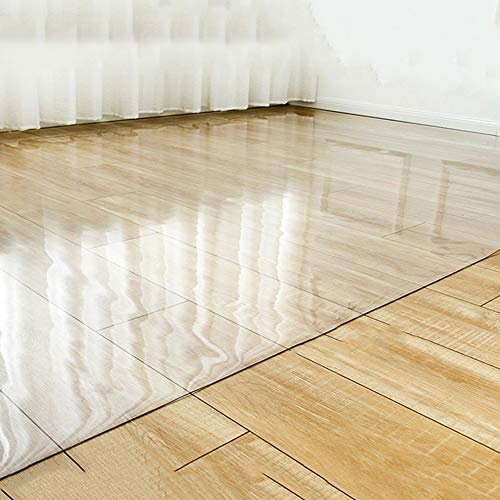 HH- Läufer Stuhlmatte für Teppichböden, Transparente rutschfeste Rechteckige Bodenschutzmatte für Home Office Rollstuhl, Kratzer Verhindern (Size : 140×180cm)
