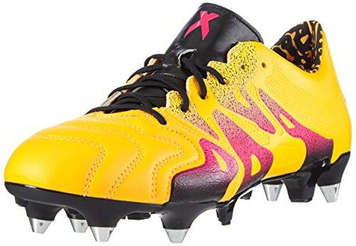 adidas X 15.1 SG Leather, Herren Fußballschuhe, Gelb (Solar Gold/Shock Pink/Core Black), 41 1/3 EU (7.5 Herren UK)
