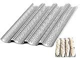 Städter - Molde para pan (40 cm, antiadherente, para horno con forma de U, 5 cm), color negro