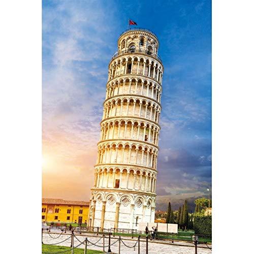 TONGSH Puzzles Una de Las Siete Maravillas del Mundo, el Famoso Sitio Experimental de Pisa, Italia Juguetes educativos Rompecabezas Tarjeta de niños for Adultos (Color : 1000Tablets)