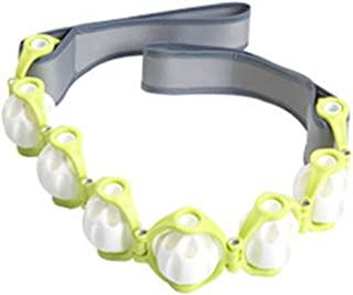 Lexpa マッサージロープ 360度回転 ボディーライン エンボッシングローラー ストレッチング 屋内運動 海外直送品 (Massage Rope 360 Degree Rotating Body line Embossing Roller ...