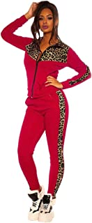 KAIXLIONLY Women Leopard Zipper Jacket Pant Tracksuits Activewear Sportswear Sets Yoga Jogging Workout Outfit