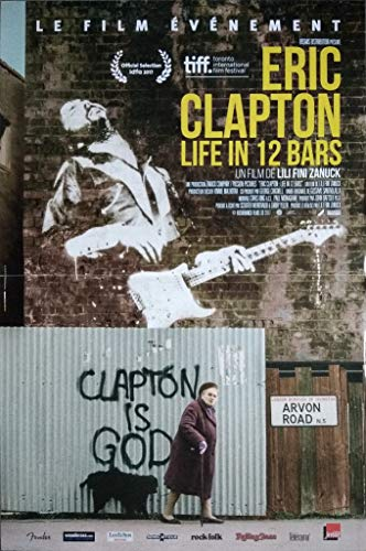 Eric Clapton Life in 12 Bars - Póster de cine original (160 x 120 cm, plegado)