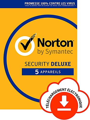 Norton Security Deluxe 2018 | 5 Appareils | PC/Mac/iOS/Android | Abonnement – Renouvellement Automatique