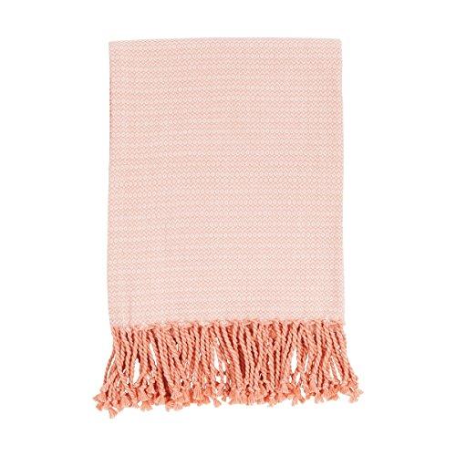 haga-wohnideen.de 'Indoor Copriletto plaid coperta coperta Summer Wave corallo 130cm x 170cm