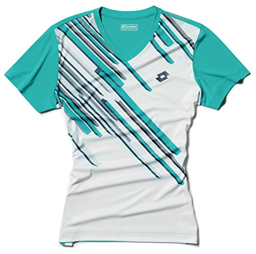 Lotto T-Shirt Slade Homme Taille L (US) Blanc/Vert is