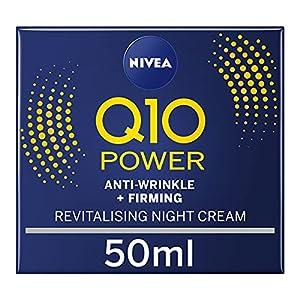 NIVEA Q10 Power Anti-Wrinkle + Firming Night Cream (50 ml), Anti Ageing Cream + Creatine and Q10, Nightly Moisturiser for Women, Reduce Appearance of Wrinkles by Beiersdorf