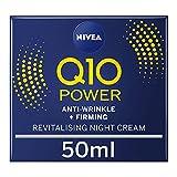 NIVEA Q10 Power Anti-Wrinkle + Firming Night Cream (50 ml), Anti Ageing Cream + Creatine and Q10, Nightly Moisturiser for Women, Reduce Appearance of Wrinkles