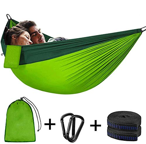 250 × 120 cm Tuin hangmat Draagbaar Opbergzak Stalen gesp Boom riem Dubbele Nylon Anti-muggen tent Camping Buitenshuis Reizen Backpacken