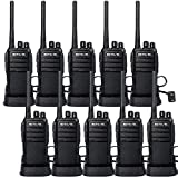 Case of 10,Retevis RT21 Two-Way Radios Rechargeable Long Range Walkie Talkies Hand Free 16CH Business 2 Way Radios, Wall Charger Base, 1100mAh Battery