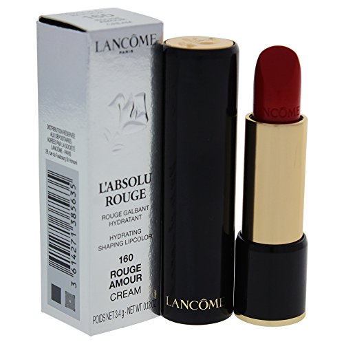 Lancome L'Absolu Rouge Hydrating Shaping Lip Color For Women, No.160 Rouge Amour, 0.12 Ounce