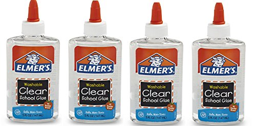 Elmers Liquid School Glue, Washable tHPBKA, 4Pack (5 oz), Clear