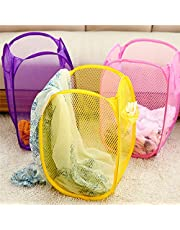 Perpetual Big Size Laundry Bag Foldable & Collapsible Basket with Easy to Carry Handle - for Home, Dorms, Hostel, Toy Storage, Clothes (Multicolor Print) Size 30 liters