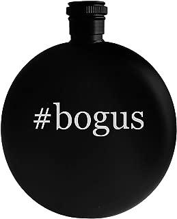 #bogus - 5oz Hashtag Round Alcohol Drinking Flask, Black