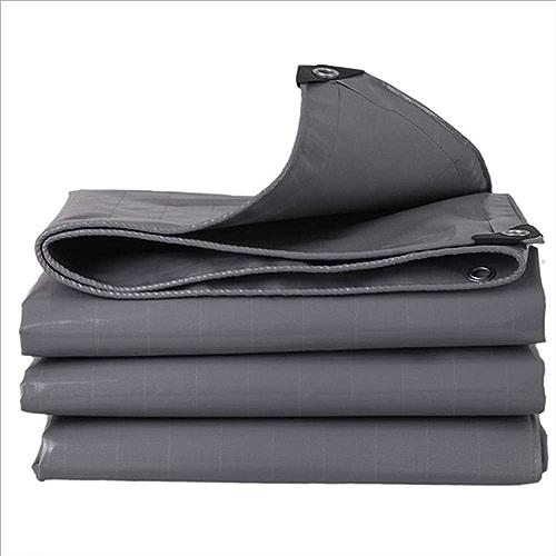 ZHULIAN Tissu imperméable, Toile de Bordure de Tissu d'extérieur auvent imperméable à la Pluie de PVC gris de PVC antipoussière