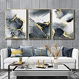Kwydle Moderne Abstrakte Kunst Leinwand Poster Goldene