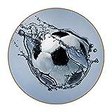 Posavasos de Cuero, Posavasos Posavasos absorbentes Pelota de Futbol Ejercicio Agua Alfombrilla Grande de 4.3 Pulgadas, Juego de 6 11 cm