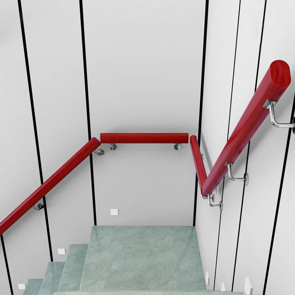 Pasamanos de Escalera,Soportes de Pasamanos de Acero Inoxidable,barandas Montadas en la Pared del Ático/Pasillo,Dos Estilos de Soportes,Varios Tamaños de Barandilla de Escalera de Madera Maciza: Amazon.es: Hogar