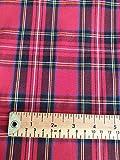 Tissu écossais de qualité – Imprimé tartan rouge Royal Stewart – Tissu 100 % coton artisanal au mètre