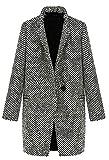 Abrigo Cortavientos para Mujer con diseño de Pata de Gallo, cálido, para Invierno, Talla pequeña Aspic XS