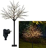 Bonetti LED Lichterbaum mit 500 warm-weißen Lichtern beleuchtet, 220 cm hoch, die Lichterzweige...