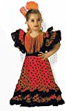 festi fiesta Española Sevillana, rojo con lunares negros, talla 3/5 años, disfraz infantil