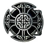 Shirtmatic Hebilla de cinturón con nudo celta, diseño de cruz celta Cruz vikinga. Medium