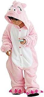 ab664a12fd958 GWELL Unisexe Animal Pyjama Animaux Enfant Combinaison Cosplay Outfit  Vêtements de Nuit Déguisements Hiver Chaud Costume