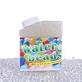 GiftPot Bolas de Gel de Agua, 50000 Piezas Perlas de Agua, Perlas de Gel para Decoración, Transparent, Plantas, Flores, Mezclados Cristalino Hidrogel Bolas de Gel para Decoración (10 Globos Extra).