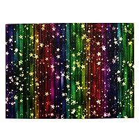500ピース ジグソーパズル カラフルなストライプ柄の背景と星 パズル 木製パズル 動物 風景 絵 ピクチュアパズル Puzzle 52.2x38.5cm