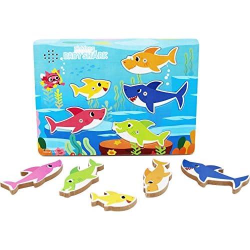 Pinkfong Baby Shark Puzzle A incastro in Legno, Riproduce La Canzoncina Baby Shark Doo Doo Doo, Fenomeno Planetario Su Youtube