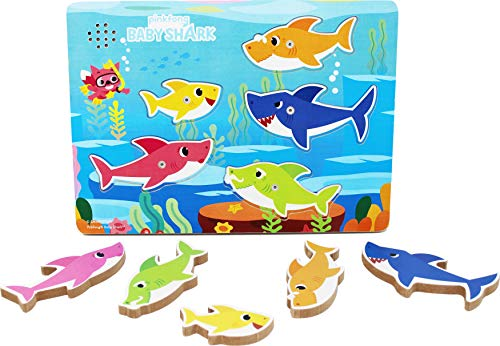 Spin Master Baby Shark Chunky Wood Sound Puzzle, Color Multicolor. (6054918)