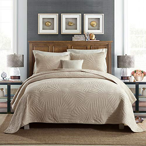 3 Piece Quilt Set Ultra Soft Cotton Quilted Coverlet review