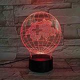 Carte Nationale Lampe de Table Bureau 3D Illusion Tactile Capteur 7 Changement de Couleur Pour Enfants Enfants Swiss Globe Veilleuse Led Télécommande (ZYJHD)