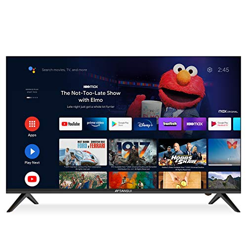 SANSUI 43-Inch Smart TV 4K Ultra HD Android LED TV HDR with Dolby Voice Remote, Support Google Assistant, Chromecast Built-in (2020 Model, ES43S1A)
