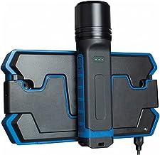as -Schwabe 42831 Inductie-laadstation en led-accu-handlamp, Li-Ion 3,7 V/2600 mAh / 18650, met geïntegreerde batterijnive...