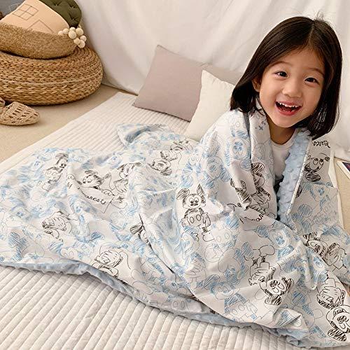 Linsaner deken voor baby's en peuters, slaapdeken voor baby's, afmeting 115 cm x 150 cm