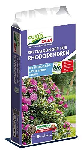 Cuxin DCM Spezialdünger für Rhododendren, Azaleen & Eriken, organisch-mineralischer NPK-Dünger 5-3-6 + 2 MgO + 1 Fe, 10,5 kg