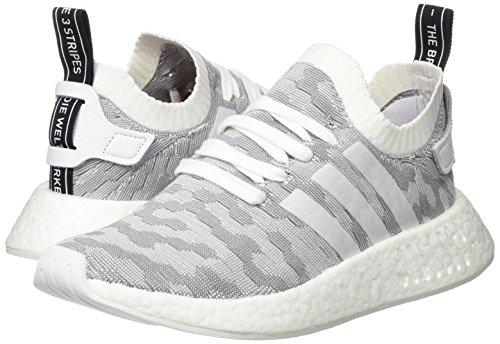 adidas Damen NMD_R2 Primeknit Sneaker, Weiß - 7