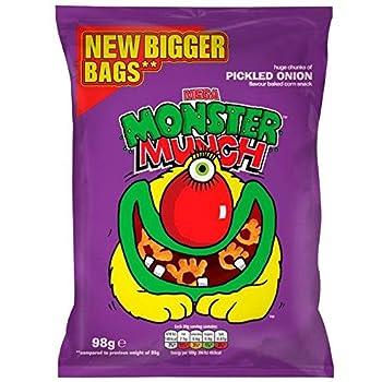 Monster Munch Pickled Onion Snacks - 98g
