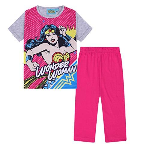 DC Comics - Mädchen Schlafanzug mit Wonder Woman-Motiv - Lange Hose - Offizielles Merchandise - Geschenk für Kinder - Pink - 5-6 Jahre