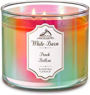 Bath and Body Works White Barn 3 Wick Scented Candle Peach Bellini 14.5 Ounce